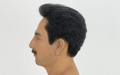 How do wear the wig on the silicone mask?